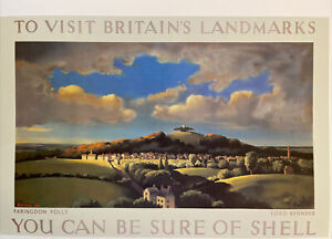 "Shell Oil,Farringdon Folly,Braemar,1936 Mini Vintage Travel Poster Ad.15 x11"" 63"