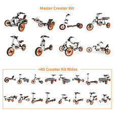 DOCYKE Creative Rides for Kids 26 in 1 Master Creator Kit Trike Bike Scooter