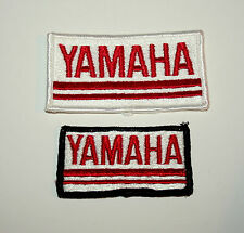 Set of 2 Vintage Yamaha Cloth Jacket or hat Patch New NOS 1980s Biker
