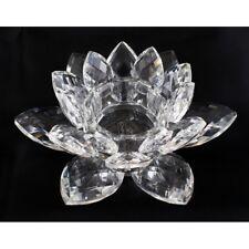 Porta Candela Fiore di Loto Cristallo Vetro Bomboniera In Confezione dfh