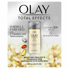 Olay Total Effects 7-in-1 Anti-Aging Moisturizer SPF 15 Fragrance-Free 3.4 fl Oz