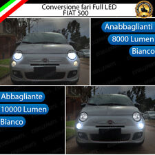CONVERSIONE FARI FULL LED ABARTH FIAT 500 500C 595 695 18000 LUMEN CANBUS