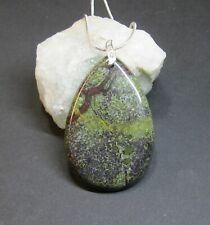 Natural, Dragon Blood jaspe piedras preciosas Colgante-Hecho a Mano