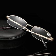 Half-Frame Metal Progressive Multifocal Reading Glasses Myopia Presbyopia
