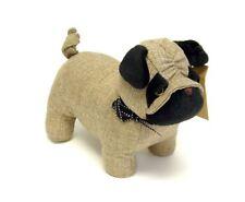 """Door Stop """"Pug"""" Dog Canvas Doorstop 1.5 kg Fabric"""