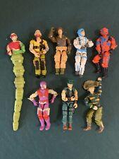 Vintage Original G.I. Joe Mini Action Figure Bundle Lot Htf 8 Figure ARAH