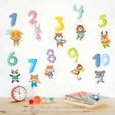Educational Numbers 1-10 Kids Wall Stickers Nursery Decor Vinyl Decal Art Mural