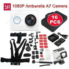 Genuine XiaoMi Yi Wifi Sports Action Camra Dvr+16in1 Accessories+Charger+Batte ry