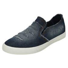 Zapatos planos de mujer azules textiles, talla 37