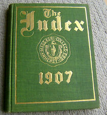 1907 UMASS Amherst yearbook University Massachusetts MASS AGRICULTURAL COLLEGE