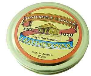 Australian Made Natural Saddle Wax 80g ideal for Equine or Leather  Bike Saddle