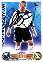 Bolton Wanderers F.C Matthew Taylor Hand Signed 08/09 Championship Match Attax.