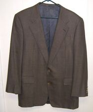 Mens Hickey Freeman, Brown Two Button 100% Wool Sports Coat, 42 Long. Very Nice!