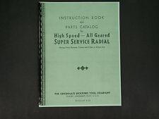 Cincinatti Bickford Radial Arm Drill Press Instruction & Parts Manual *23