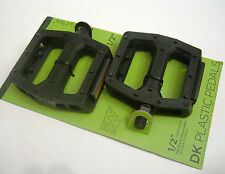DK Bicycles Platform Freestyle Pedals Composite Black Bicycle Bike Cycle NOS