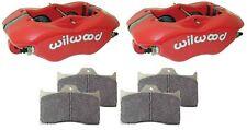 WILWOOD DYNALITE RED BRAKE CALIPERS & PADS,FDL,.81 DISCS,1.62,DRAG RACING,RACING