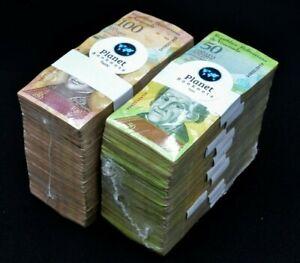 2007-2014 Venezuela $50 & $100 Bolivares 2 Used Bricks 2000 Pcs Color SKU6062