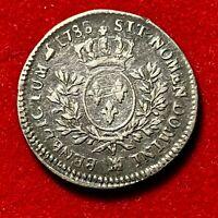 #2681 - RARE Louis XVI 1/5 écu 1788 MA Marseille TTB Belle qualité - FACTURE