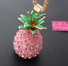 Betsey  Johnson Necklace  Hawaii Pink  Pineapple Summer Time Beach Cruise