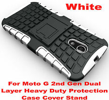 White Heavy Duty Tradesman Strong Case Cover For Motorola Moto G 2nd Gen 2014