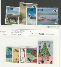 Fiji, Postage Stamp, #514-522 Mint NH, 1984 Christmas, Airplane, Ship