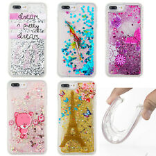 Patterns Glitter Liquid Bling TPU Phone Case Cover For iPhone Samsung LG Huawei