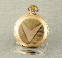 Savonette Taschenuhr Herren Uhr pocket watch alte antique gold pl. Uhren hunter