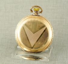 Savonette Taschenuhr Herren Uhr pocket watch alte antique gold pl. Uhren hunter