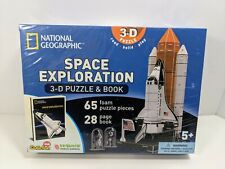 National Geographic SPACE EXPLORATION 3-D Puzzle & Book Shuttle NASA Homeschool