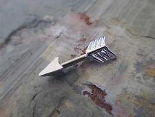 "Silver Arrow Piercing Conch Helix Cartilage Piercing 1/4"" 14G Earring"