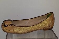 Guillaume Hinfray Authentic Beige/Gold Lace Flats size 36 made in Italy