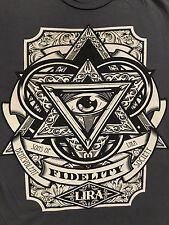 LIRA Fidelity Star Triangle Eye Design Black T-Shirt Sz.L