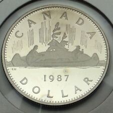 1987 Proof Canada Nickel Canadian Frosted One Dollar Uncirculated Coin C058