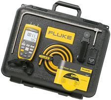 Fluke 922 KIT Airflow Meter/Micromanometer. Includes Meter, Hoses, Case & More