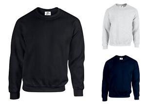 Premium Plain Sweatshirt Jumper Sweater Pullover Jersey Work Casual Leisure Top