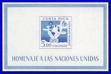 COSTA RICA 1961 UNO/ONU PROGRAMS S/S MNH GLOBE, SPACE
