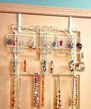 Jewelry Valet Over The Door Hanging Organizer Multi Purpose Wall Mount Display