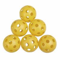 10x Plastic Yellow Golf Tennis Practice Training Balls Whiffle Airflow 2019
