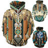 Indian Chief Native Tribal Totem Ethnic Hippie Men Women Pullover Hoodie Jackets