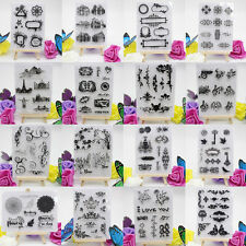 Alphabet Transparent Silicone Clear Rubber Stamp Sheet Cling Scrapbooking DIY E
