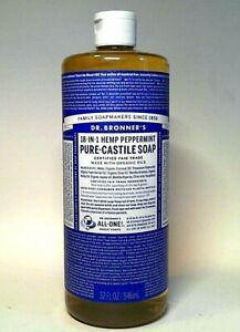 DR. BRONNER'S 18-IN-1 HEMP PEPPERMINT PURE-CASTILE SOAP since 1858