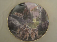 Wolf Collector Plate Sounds Of Summer Julie Kramer Cole Indian - Native