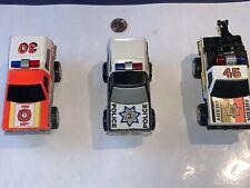 Children Toys Cars Trucks Emergency Vehicles Police Vintage Lot Of 5