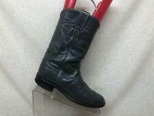 Justin Roper Gray Leather Cowboy Western Boots Womens Size 6 B Style L3056
