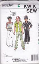 Kwik Sew 2666 Girls pants, blouse & camisole sizes 7 8 10 12 14