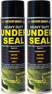 2 x UNDERSEAL SPRAY AEROSOL UNDERGUARD PAINT UNDER BODY PROTECTION SEAL 500ml