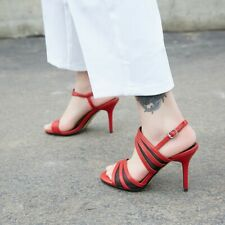 Fashion Women Slingback High Heels Peep Toe Casual Sandals Buckle Stiletto Shoes