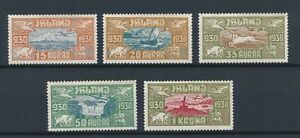 [59285] Iceland Airmail 1930 Very good set MH Very Fine stamps $250