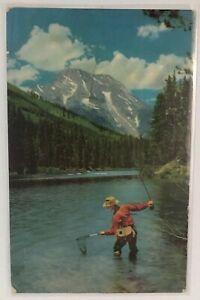 Vintage Postcard Fishing Cold Mountains Pacific Northwest Lind Washington 1948
