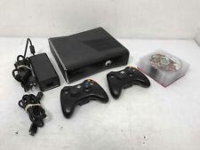 New listing Microsoft Xbox 360 1439 250Gb Black Video Game Console w/10 games
